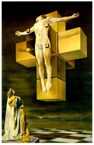 Crucifixion (Hypercubic Body) from Salvador Dali